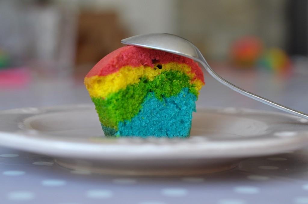recette rainbow cupcake