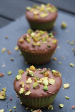 Cupcakes à la pistache et au chocolat