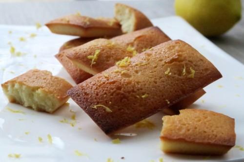 Financiers citron gingembre huile d'olive