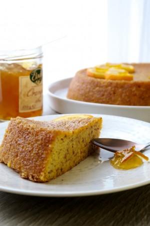Gâteau humide à l'orange sans gluten