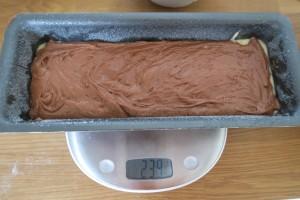 Recette marbré chocolat vanille13