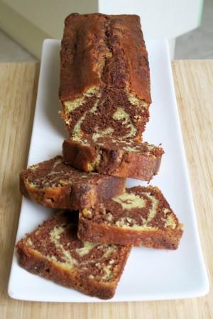 Recette marbré chocolat vanille 17