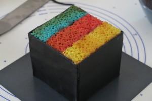 Gateau rubik's cube 10