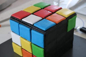 Gateau rubik's cube 14