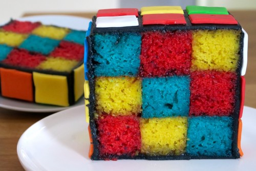 Gateau rubik's cube