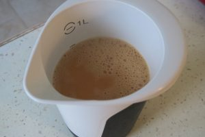 Désolé, c'est la seule photo que j'ai fait de la préparation au caramel.
