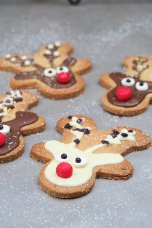 Chocolat blanc ou chocolat au lait pour votre sablé renne de Noël aux épices et zestes d'orange ?