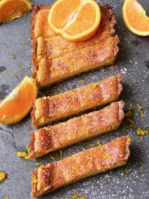 Fraîcheur et goût de Provence pour ce cake-tarte à la brousse et à l'orange.